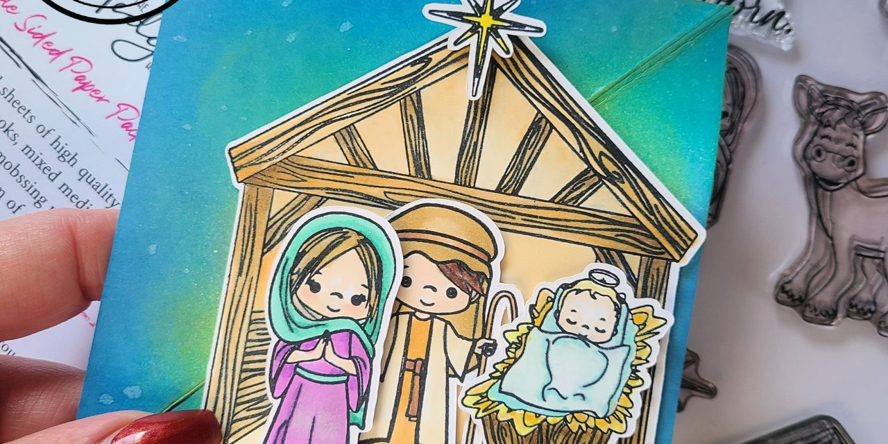 Nativity scene twisted easel card