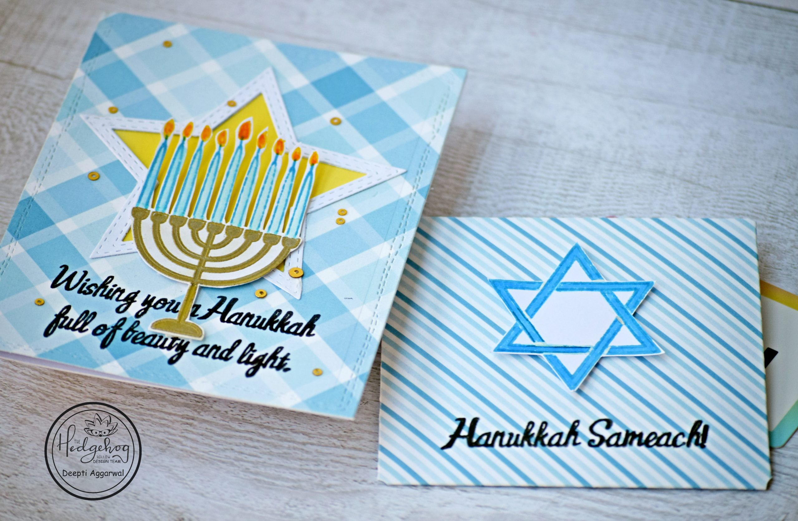 Hanukkah Wishes with matching Gift Card holder