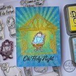 """Oh Holy Night"" – STENCILED NATIVITY CARD"