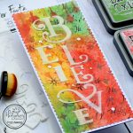 Slimline Mixed Media Holiday Card
