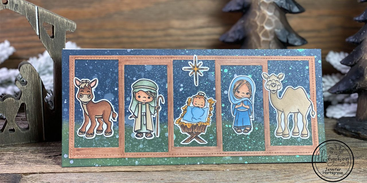A Child is born: Nativity slimline card