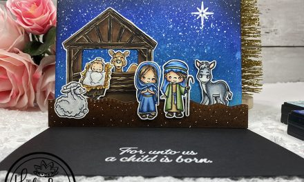 Nativity Stamp | 3D Pop-Up Card with Donna Perisic