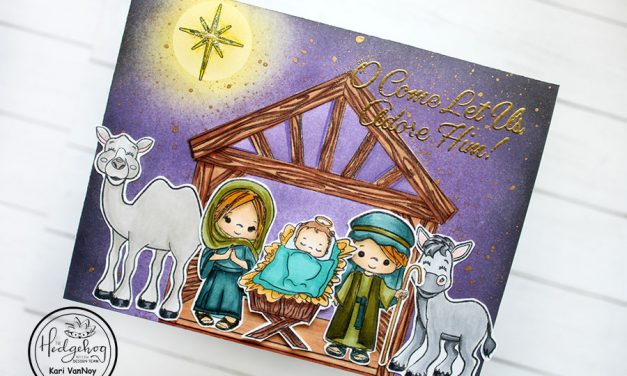 Sweet Nativity card with Kari