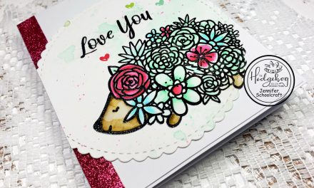 Glitter, Tombows & a Hedgehog…Oh my!!