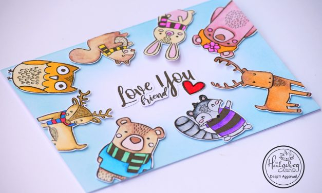 Love You Friend – Cute Critter Card
