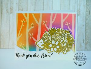 Thank You card using Floral Hedgehog