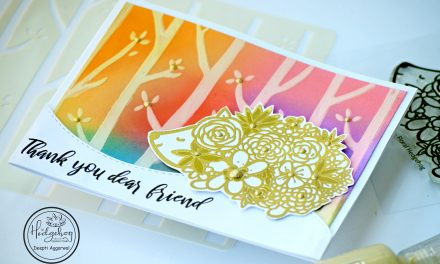 Floral Hedgehog – Thank You Card