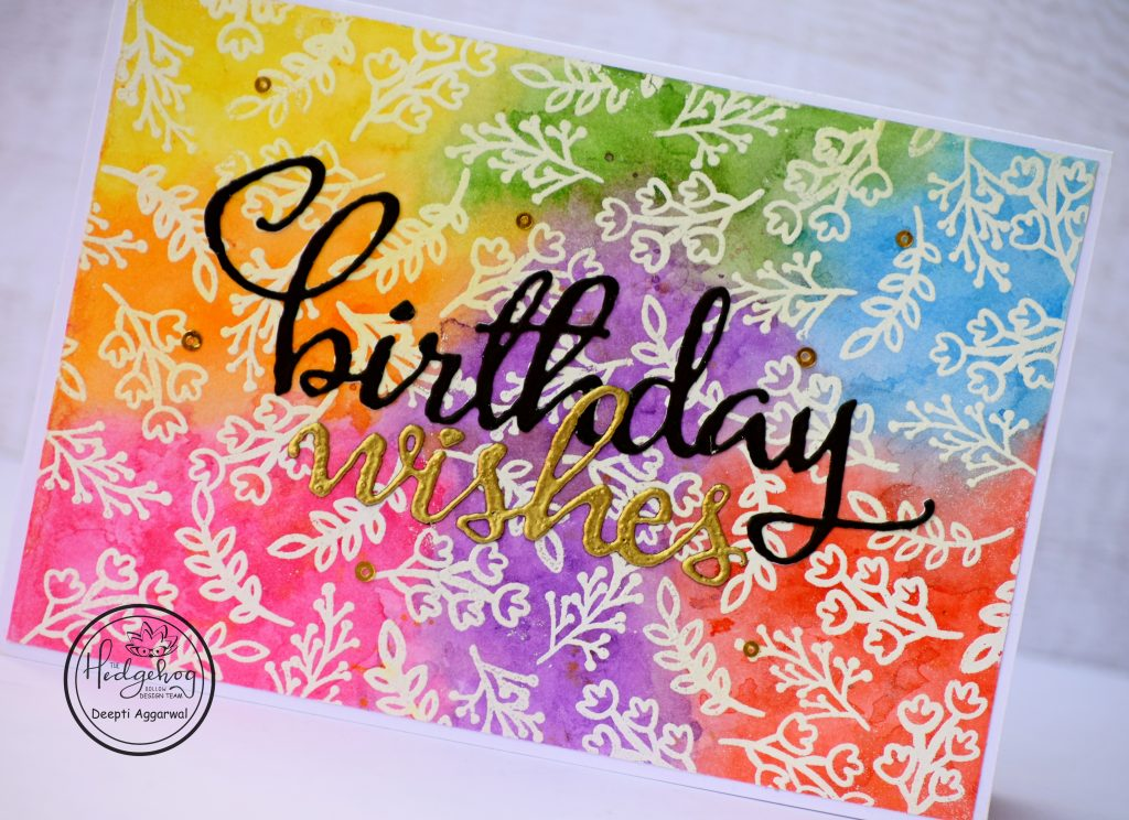 Colorful Birthday wishes handmade card