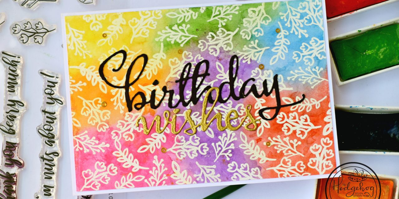 Water Colored Rainbow Background for Small Stamps – Video Tutorial