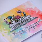 Rainbow Card with ink Smooshing Technique