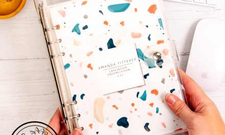 DIY Craftroom Organization Binder with Amanda