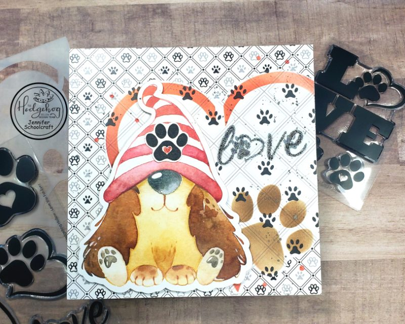 Creating A 6 X 6 Card – All About The Paws!