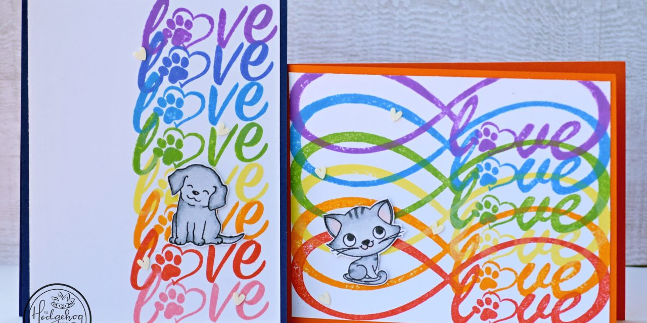 Quick Rainbow Colored Love Cards for Furry Friends