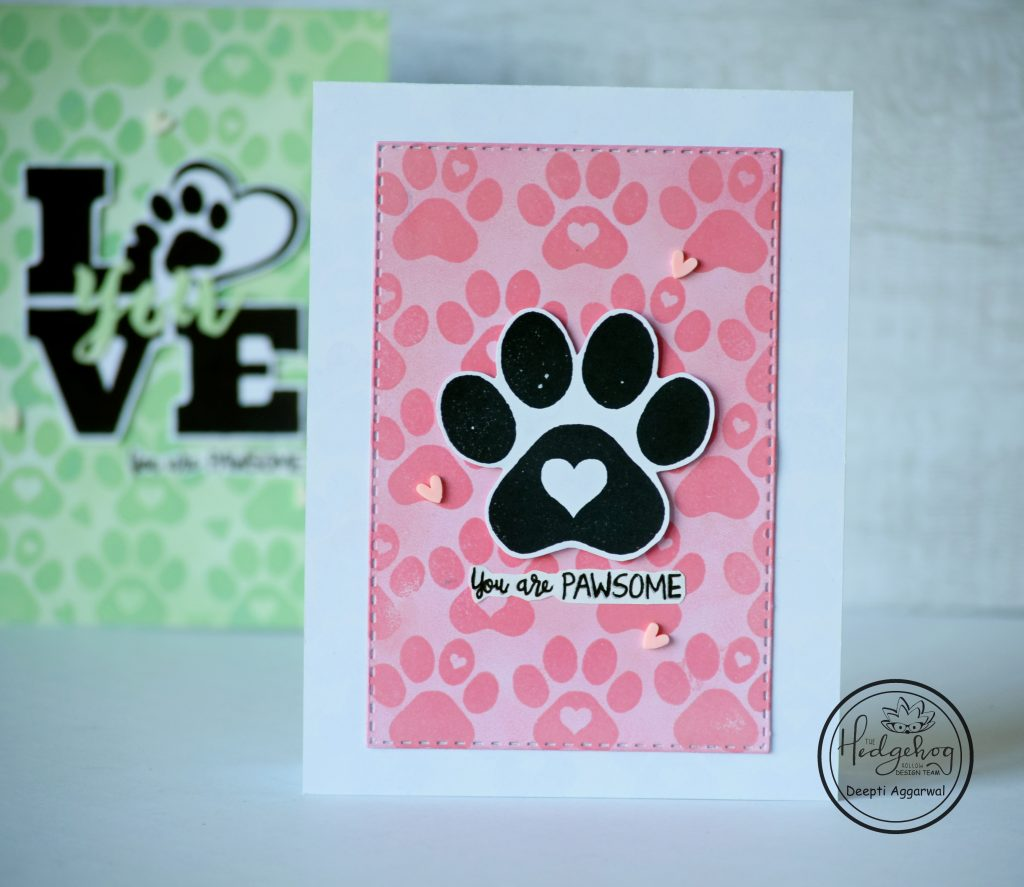 You are pawsome - stamped card