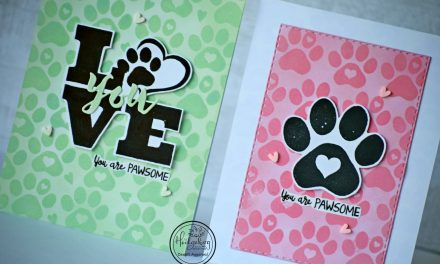You're Pawsome -Tone on tone stamping