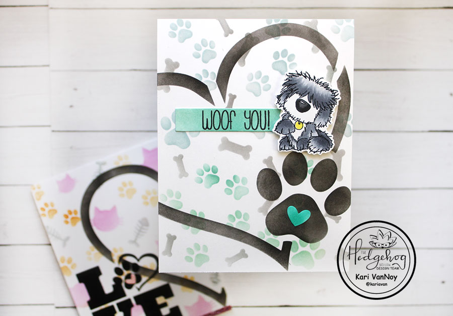 Selective stenciling with cat & dog
