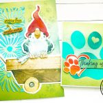 Parakeet art journal with foil