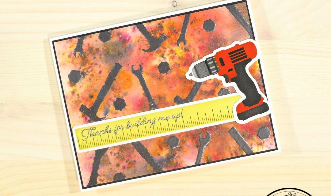 Shimmer Powder Card for the Tool Man in Your Life