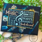 "foiling stamped images ""Music Feeds the Soul"""