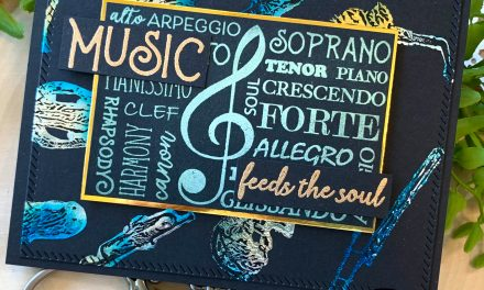 """foiling stamped images """"Music Feeds the Soul"""""""
