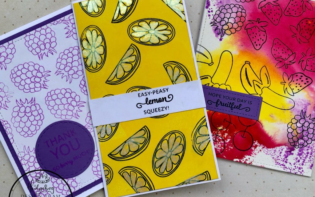 Three Fast and Fruity Cards