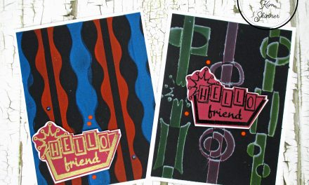 Two Ways To Add Color To Black Cardstock Retro Style