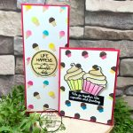 How to use the ice cream stencil to make cupcakes