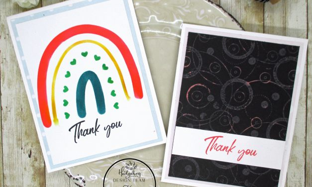Simple Thank You Cards With The October Kit